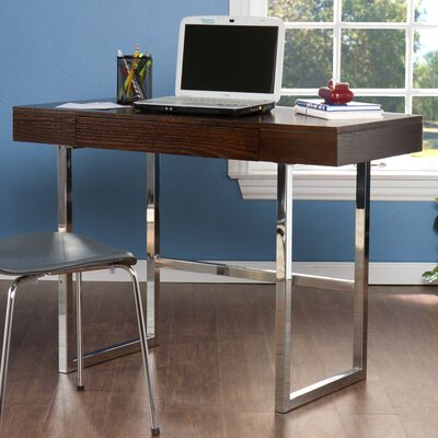 Wildon Home ® Cleoford Computer Desk and Chrome
