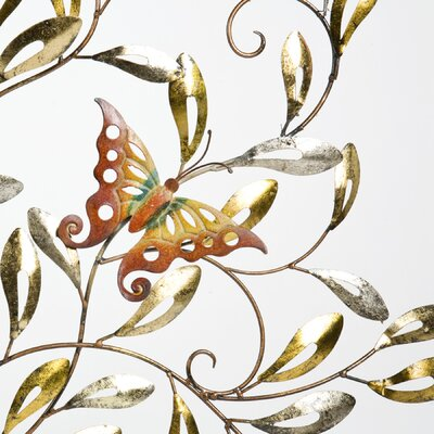 Wildon Home ® Hatteras Butterfly Centerpiece Wall Sculpture