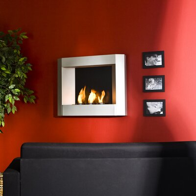 Wildon Home ® Sevilla Wall Mounted Gel Fuel Fireplace