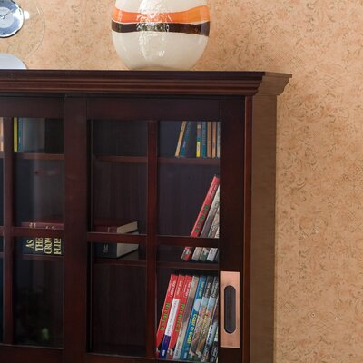 Wildon Home ® Broxton Sliding Door Media Cabinet in Espresso