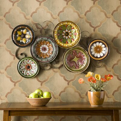 "Wildon Home ® Scattered Italian Plates Wall Art - 36.75"" x 22.5"""
