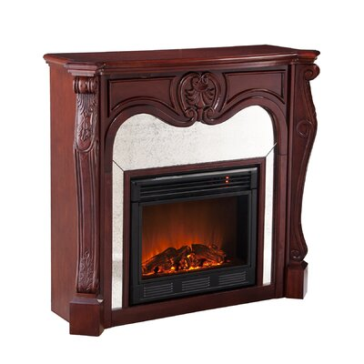 Wildon Home ® Rivington Mirrored Electric Fireplace