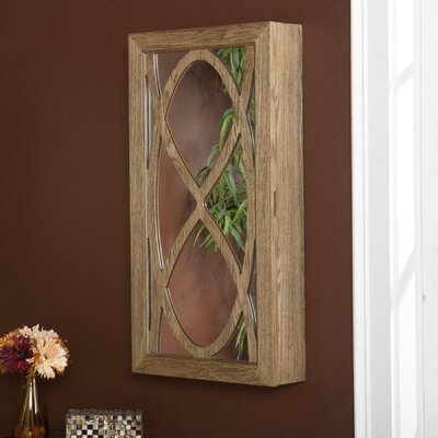 Juliann Wall Mounted Jewelry Armoire with Mirror