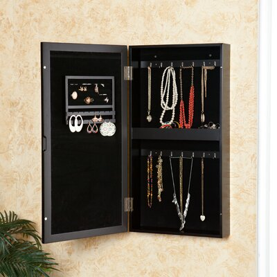 Wildon Home ® Wall Mounted Jewelry Armoire with Mirror