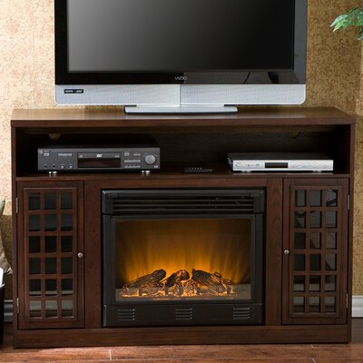 "Southern Enterprises Lipan 48"" TV Stand with Electric Fireplace"