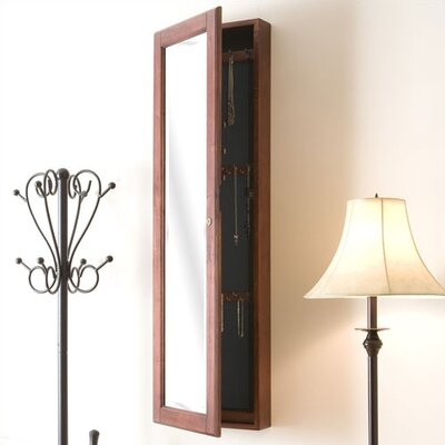 Wildon Home ® Bullock Wall Mounted Jewelry Armoire with Mirror