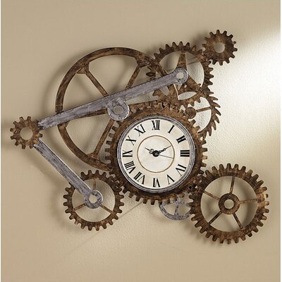 Wildon Home ® Redd Gear Wall Art with Clock