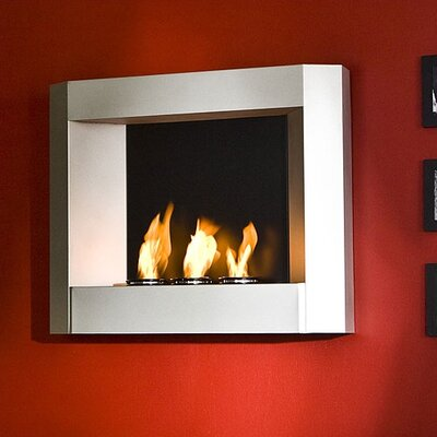 Wildon Home ® Sleek Wall Mounted Gel Fuel Fireplace