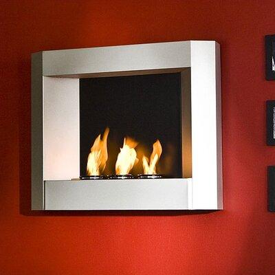 Wildon Home Sleek Wall Mounted Gel Fuel Fireplace