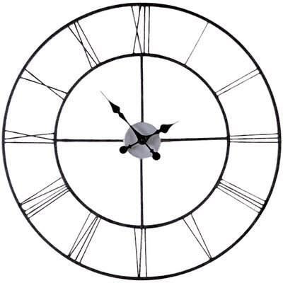 "Wildon Home ® Oversized 30"" Frost Decorative Wall Clock"