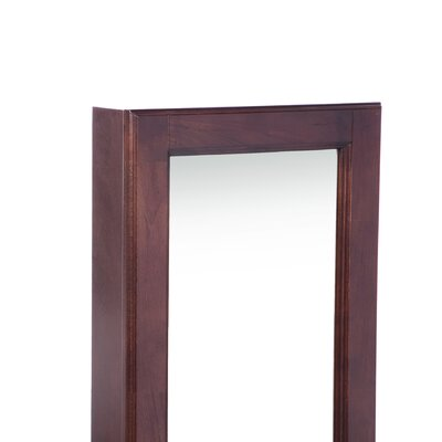 "Wildon Home ® Bullock Cherry 48"" High Wall Curio / Jewelry Mirror"