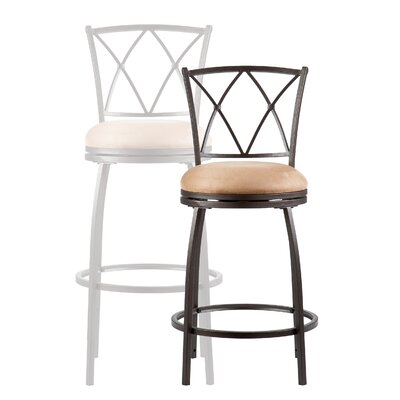 Wildon Home ® Fairfax Swivel Bar Stool with Cushion