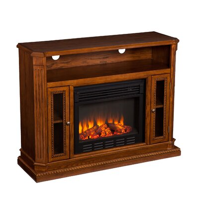 Wildon Home Delaney 47 TV Stand With Electric Fireplace amp Reviews Wayfair