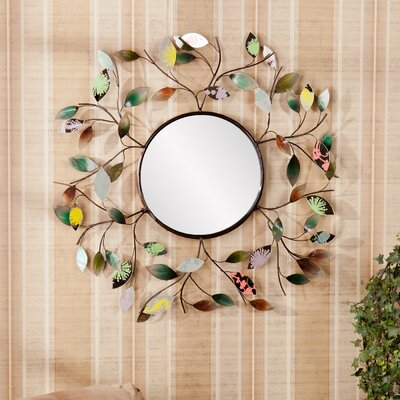 Wildon Home ® Bradshaw Decorative Metallic Leaf Wall Mirror