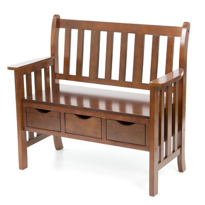 Wildon Home ® Stuart Storage Wood Entryway Bench