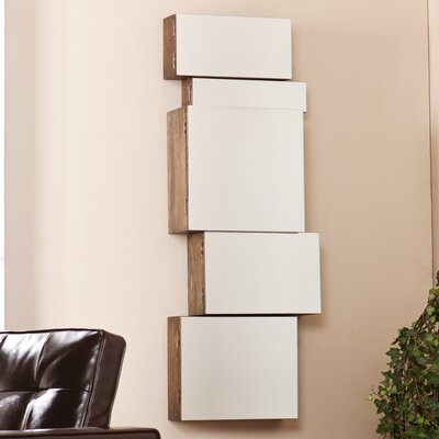 Wildon Home ® Toulouse Mirrored Wall Mount Storage Box (Set of 5)