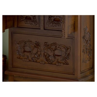 "Wildon Home ® Cynthia 26"" W Hand-Carved Drop-Front Secretary"