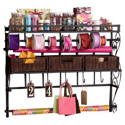 Wildon Home ® Lynbar Wall Mount Craft Large Storage Rack with Baskets