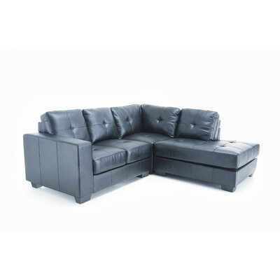Wildon Home ® Spacco Bonded Right Leather Sectional