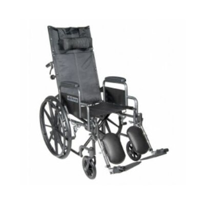 Reclining Wheelchair with Detachable Desk Length Arms and Elevating Legrest
