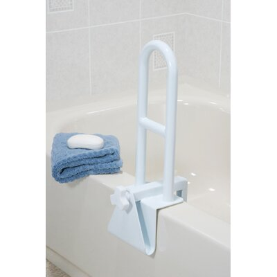 Drive Medical Steel Clamp On Tub Rail in White