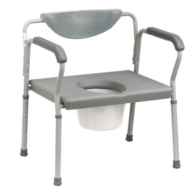Bariatric Commode in Grey