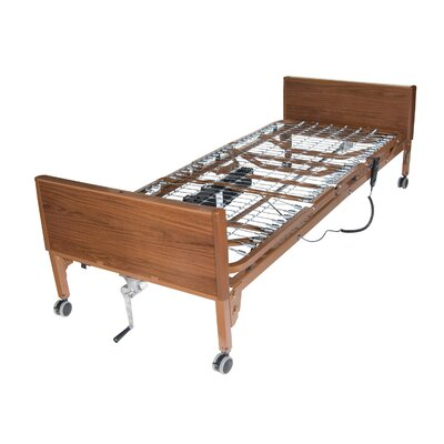 Drive Medical Semi Electric Ultra Light Plus Hospital Bed in Brown