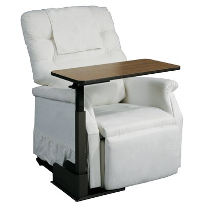 Drive Medical Patient Room Seat Lift Chair Overbed Table with Right Side