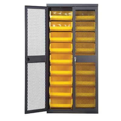 Quantum Storage Mesh Safe-View Storage Cabinet with Various Ultra Size Bins