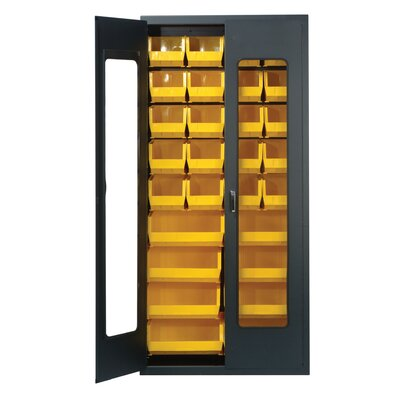 Quantum Storage Clear View Storage Cabinet with Various Ultra Size Bins
