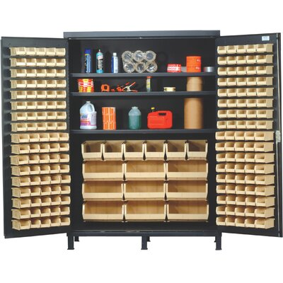 "Quantum Storage 60"" Super Wide Heavy Duty Storage Cabinet with 185 Ultra Bins"