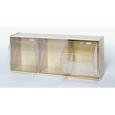 Quantum Storage Clear Tip Out Bins (3 Compartments)