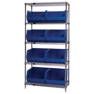 "Quantum Storage Q-Stor 74"" H 4 Shelf Shelving Unit Starter"