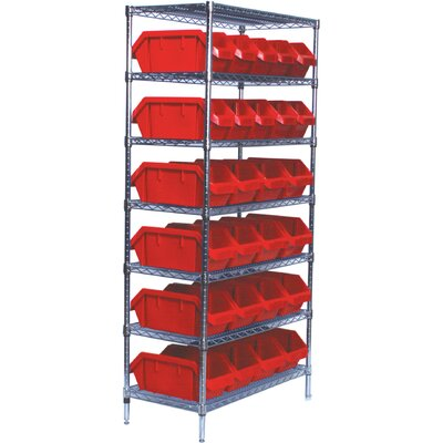 "Quantum Storage Quick Pick 74"" H 6 Shelf Shelving Unit Starter"