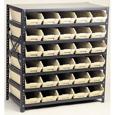 "Quantum Storage Economy Shelf Storage Units (39"" H x 36"" W x 12"" D) with Small Bins"