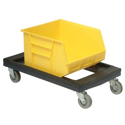Quantum Storage Plastic Dolly with Padded Rubber Ledge