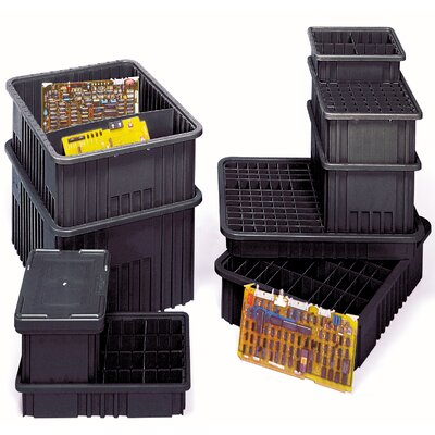 "Quantum Storage Conductive Dividable Grid Storage Containers (3 1/2"" H x 10 7/8"" W x 16 1/2"" D)"
