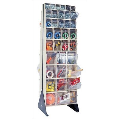"""Quantum Storage 75"""" Double Sided Floor Stand Storage Unit with Tip Out Bins"""