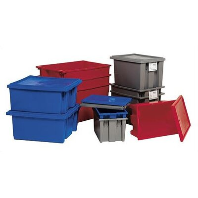 "Quantum Storage Stack and Nest Storage Totes (6"" H x 11"" W x 18"" D)"