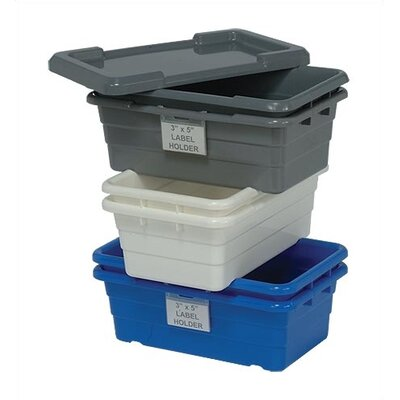 "Quantum Storage Cross Stack Tubs with Optional Lids and Label Holders (17 1/4"" L x 11"" W)"