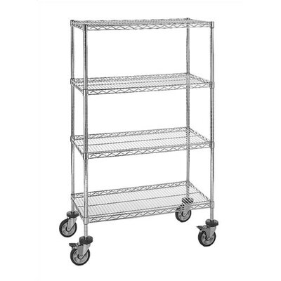 "Quantum Storage Small 54"" Q-Stor Chrome Wire Shelving (Starter Kit) with Optional Mobile Kit"