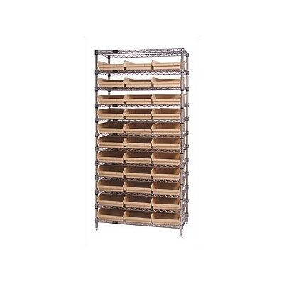 "Quantum Storage Q-Stor 74"" H 11 Shelf Shelving Unit Starter"