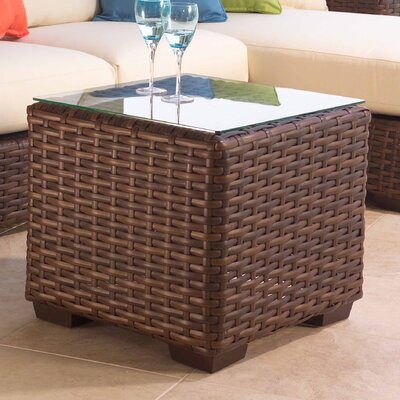 Lloyd Flanders Contempo Square Cube Side Table