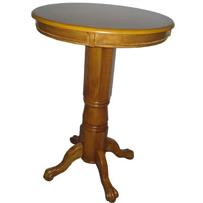 Boraam Industries Inc Florence Pedestal Pub Table in Fruitwood