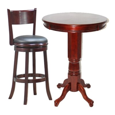 Boraam Industries Inc Florence 3 Piece Pub Table Set in English Tudor