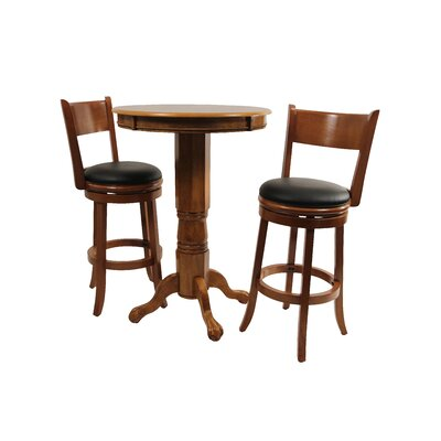 Boraam Industries Inc Florence 3 Piece Pub Set in Fruitwood