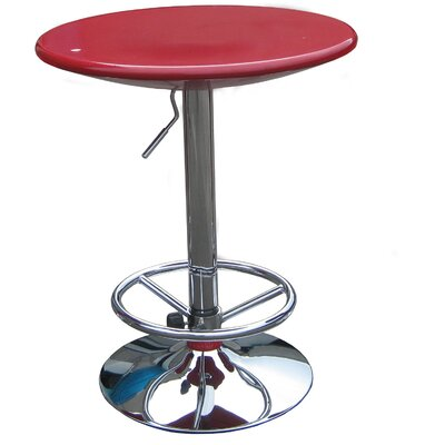 Boraam Industries Inc Luna Adjustable Pub Table in Red