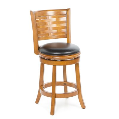 "Boraam Industries Inc Sumatra 24"" Counter Stool in Brush Oak"