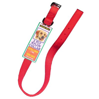Petmate Aspen Pets Nylon Dog Collar in Red