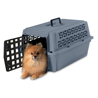 Petmate Pet Escort Medium Portable Kennel, Gray